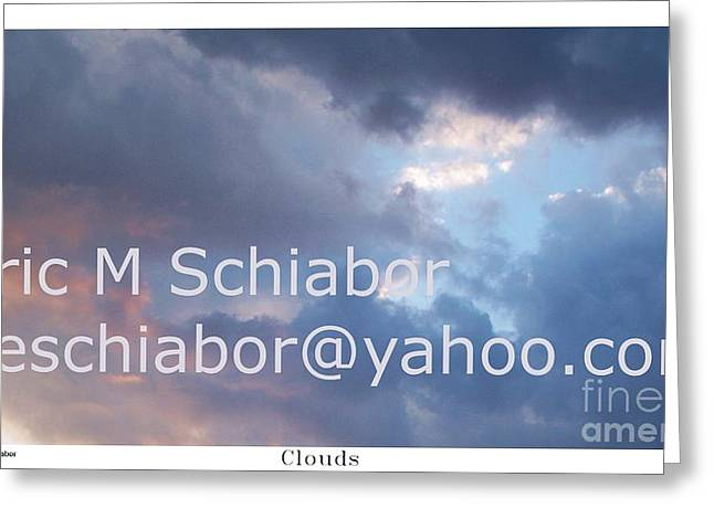 Blue And Purple Parting Clouds Print Greeting Card by Eric  Schiabor