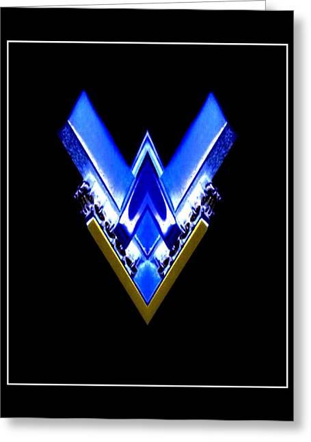 Blue Arrow Greeting Card