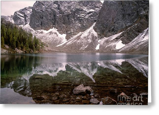Blue Lake Reflection  Greeting Card by Tracy Knauer