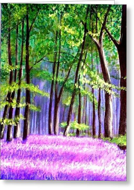 Bluebells Wood  Greeting Card