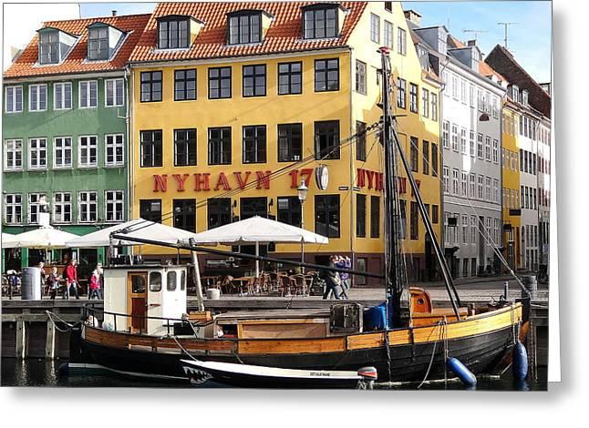Boat In Nyhavn Greeting Card by Richard Rosenshein