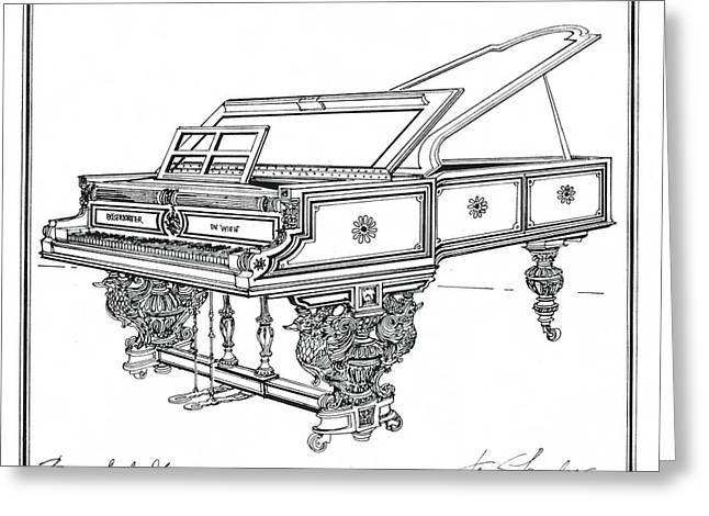 Bosendorfer Centennial Grand Piano Greeting Card