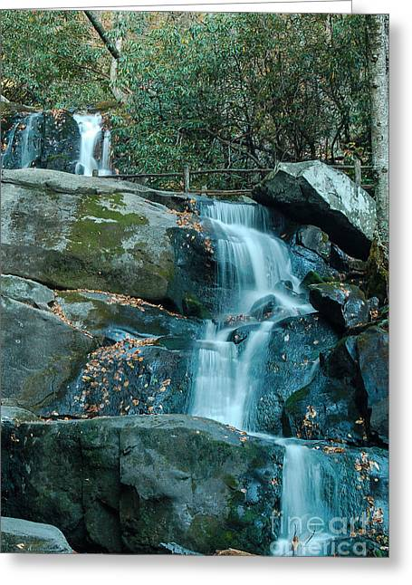 Greeting Card featuring the photograph  Bottom Of Laurel Falls by Patrick Shupert
