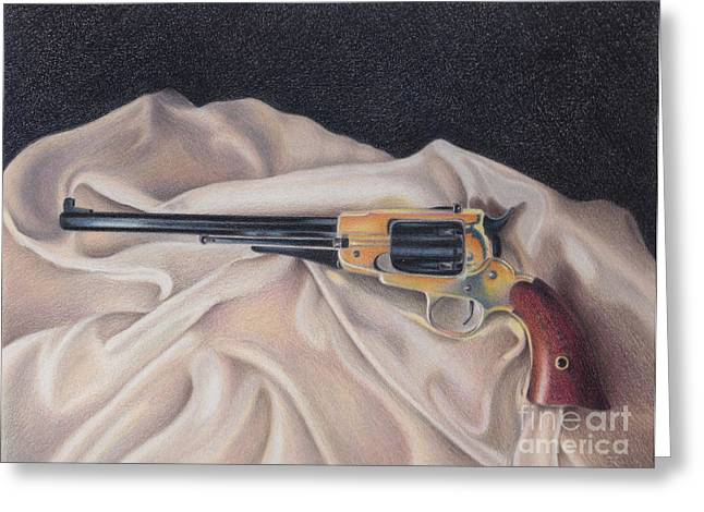 Buffalo Blackpowder Revolver  Greeting Card