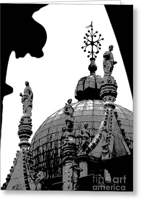 Byzantine Dome Greeting Card by Jacqueline M Lewis