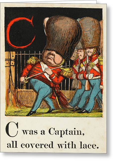 C -  Was A Captain All Covered With Greeting Card by Mary Evans Picture Library