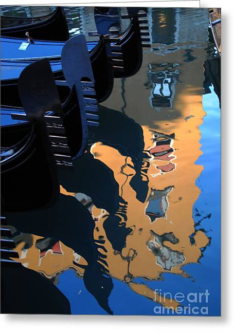 Canal Shimmer Greeting Card by Jacqueline M Lewis