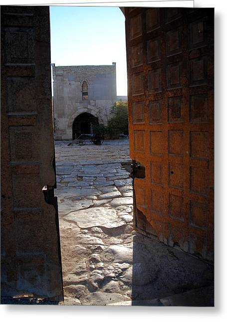 Caravanserais Central Gate - Anatolia Greeting Card by Jacqueline M Lewis
