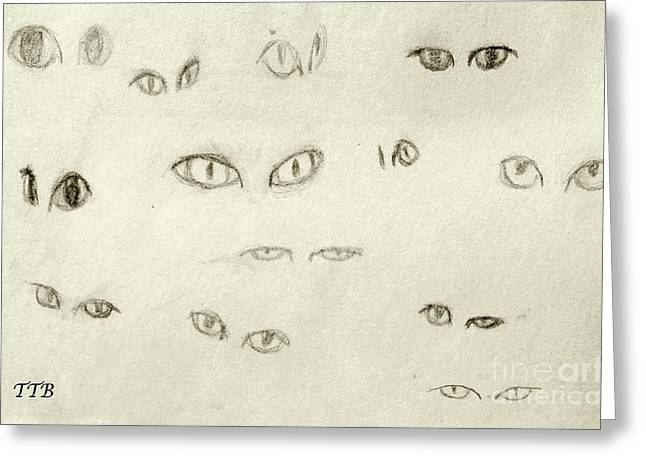 Cat Eyes - 1 Greeting Card