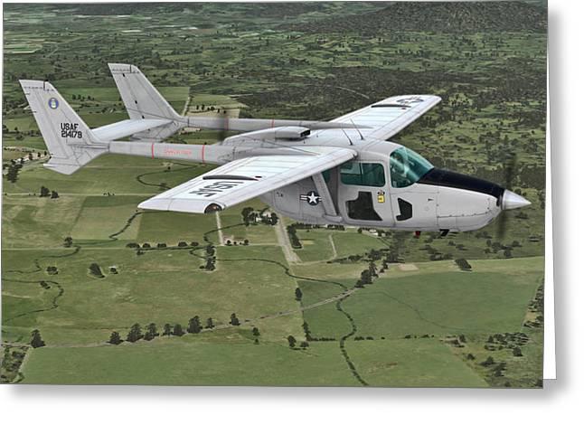 Cessna O-2a Skymaster Greeting Card