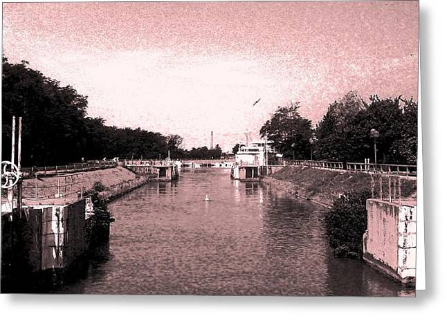 Channel Old-fashioned Greeting Card by Giuseppe Epifani