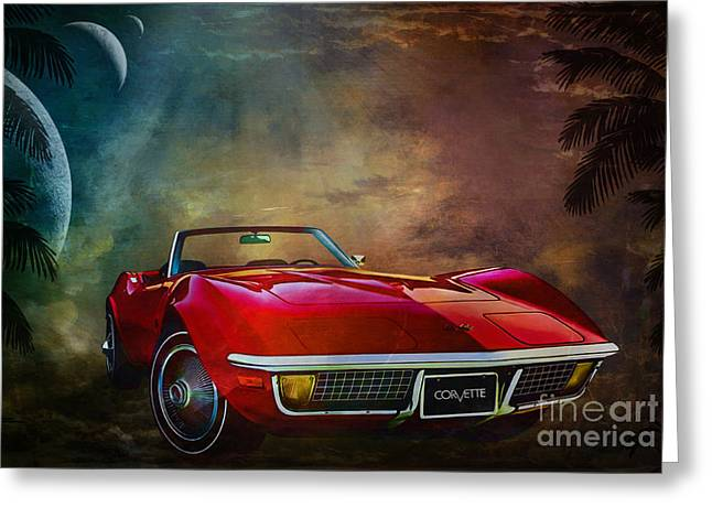 Chevrolet Corvette1972 Greeting Card