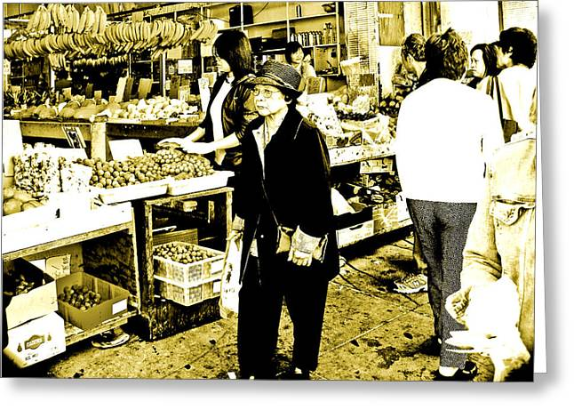 China Town Marketplace Greeting Card