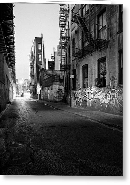 Chinatown New York City - Mechanics Alley Greeting Card by Gary Heller