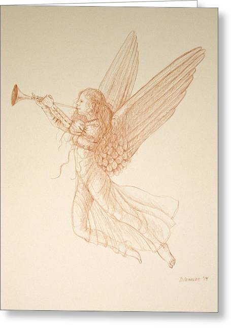 Angel With Trumpet Greeting Card