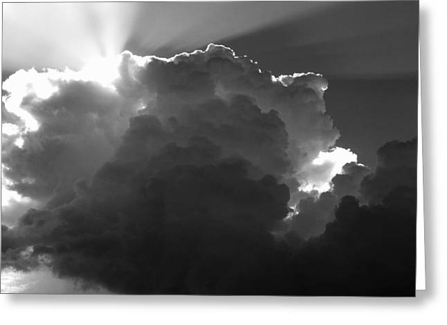 Clouds 1 Bw Greeting Card by Maxwell Amaro