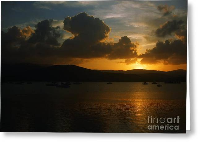 Cloudy Sunset Greeting Card by Michelle Meenawong