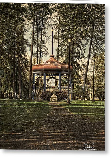 Coeur D'alene Park Gazebo Greeting Card by Dan Quam
