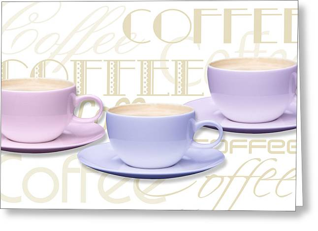 Coffee Time 2 Greeting Card by Natalie Kinnear