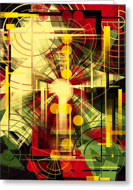 Colorful Construction 37 Greeting Card by Mikko Tyllinen
