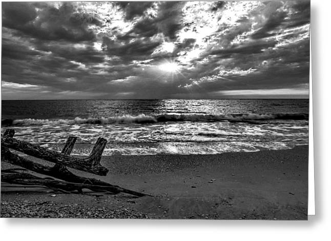 Colorless Sunset Greeting Card by Bob Jackson