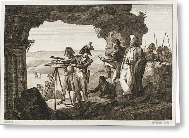 Comte Andreossi Surveys  Antique Sites Greeting Card by Mary Evans Picture Library