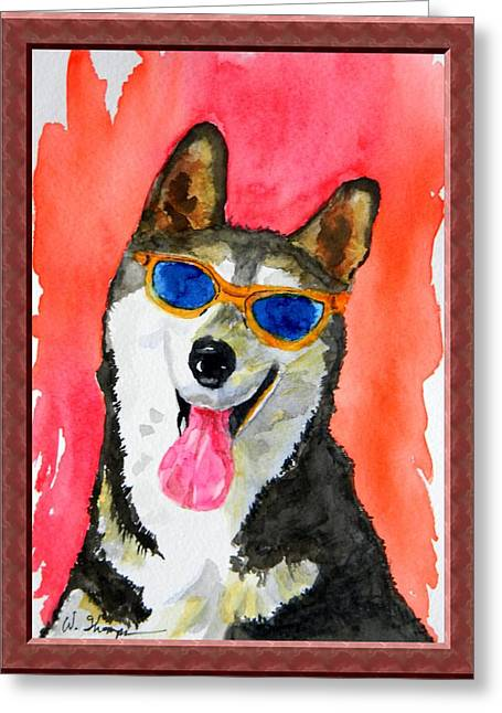Cool Husky Greeting Card by Warren Thompson