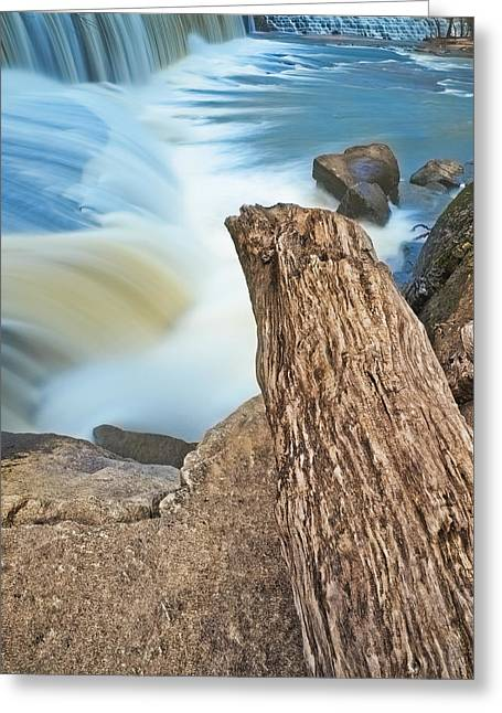 Cooleemee Falls 4 Greeting Card by Patrick M Lynch