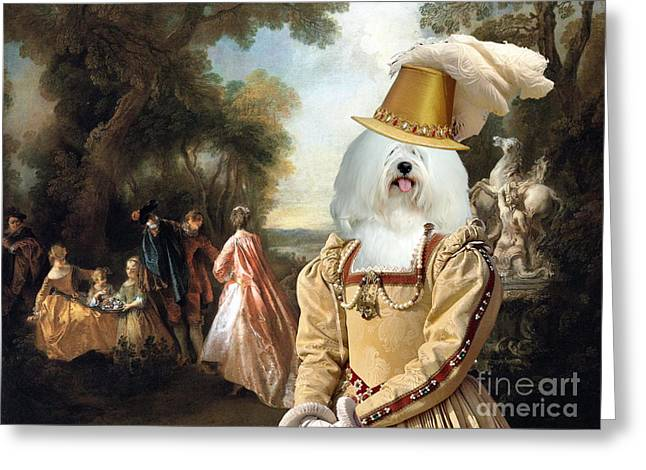 Coton De Tulear Art Canvas Print Greeting Card