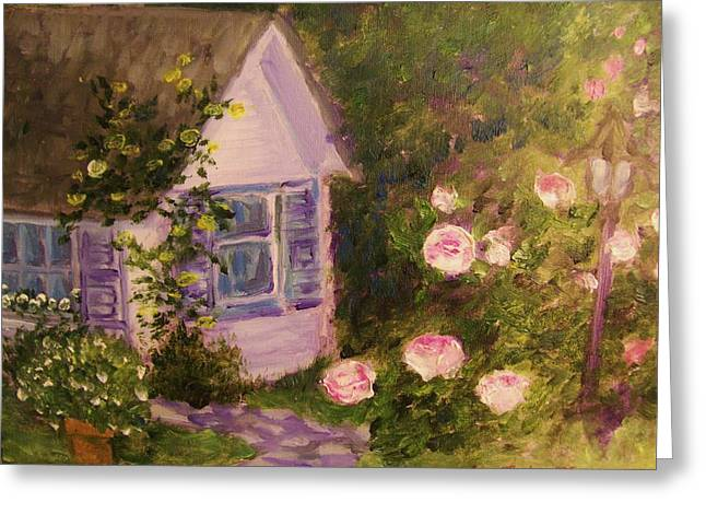 Cottage  In  The  Garden Greeting Card