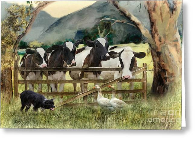Country Characters Greeting Card by Trudi Simmonds
