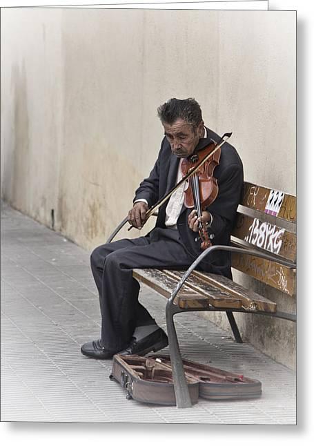 Cry My Violin  Greeting Card