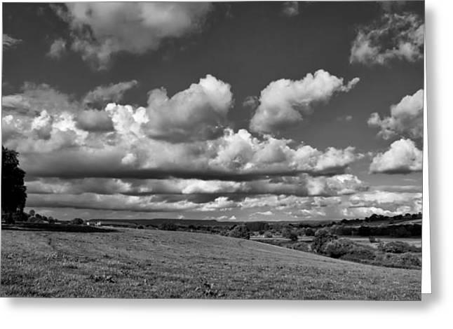 Culm Valley In Devon Greeting Card by Pete Hemington