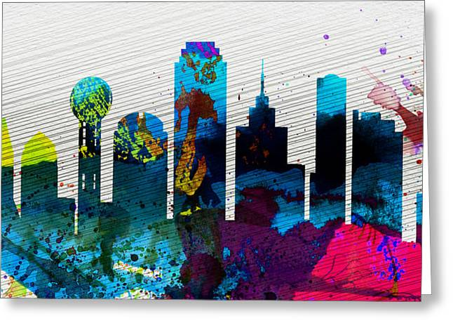 Dallas City Skyline Greeting Card