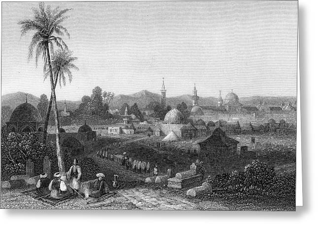 Damascus  General View        Date 1835 Greeting Card by Mary Evans Picture Library