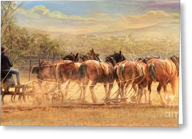 Greeting Card featuring the digital art  Days In The Dust by Trudi Simmonds