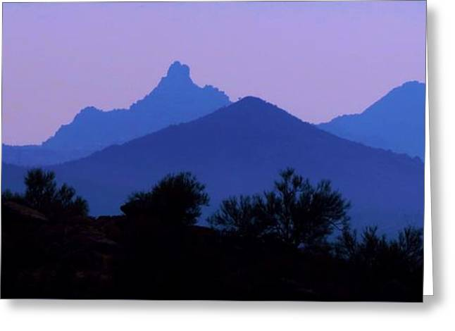 Greeting Card featuring the photograph  Desert Mountains by Mistys DesertSerenity