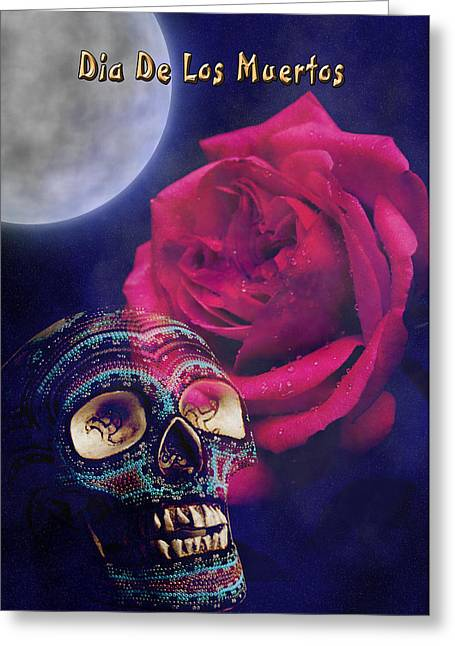 Dia De Muertos Day Of The Dead Greeting Card by Jeanette K