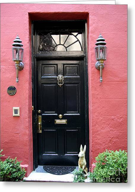Door Oldtown Charleston Greeting Card
