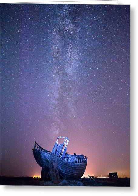 Dungeness Under The Milky Way  Greeting Card