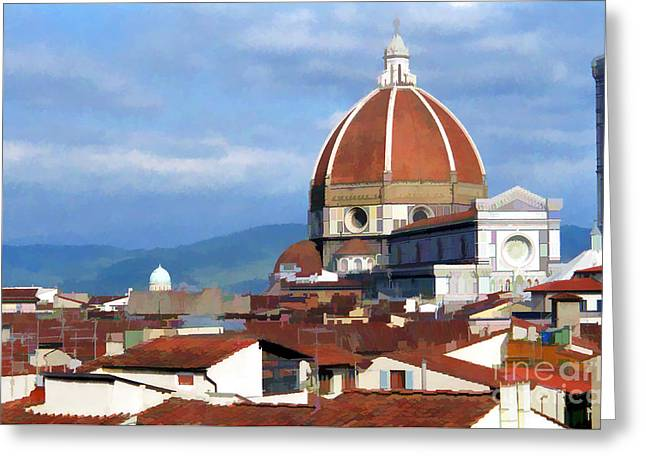 Greeting Card featuring the photograph  Duomo Of Florence # 3 by Allen Beatty