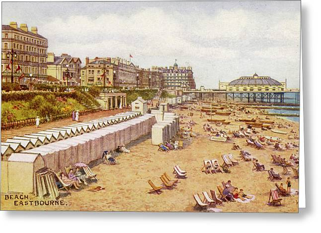 Eastbourne, Sussex A View Greeting Card by Mary Evans Picture Library