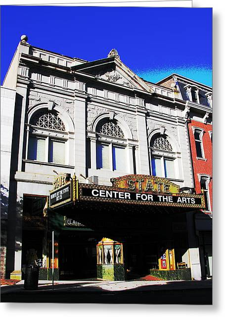 Easton Pa State Theater Center For The Arts Greeting Card by Jacqueline M Lewis