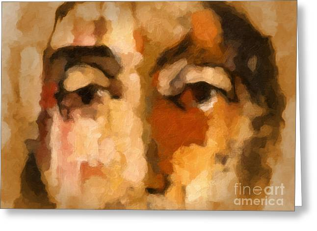 Ecce Homo Greeting Card by Lutz Baar