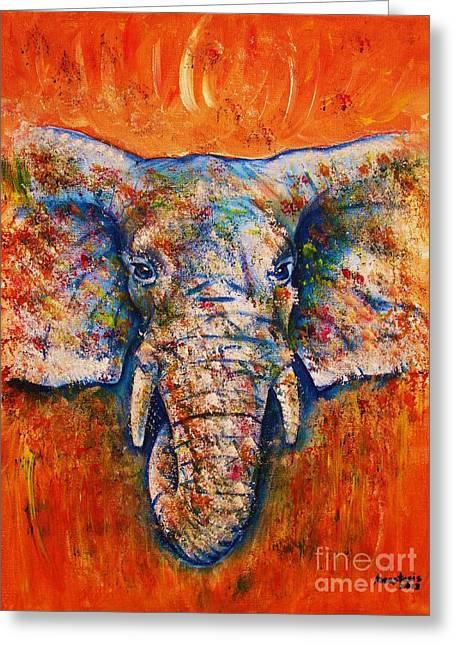 Elephant Greeting Card by Anastasis  Anastasi