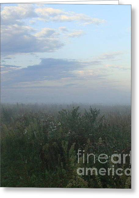 Greeting Card featuring the photograph  Endless Wild Field by Mikhail Savchenko