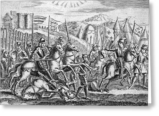 English Soldiers Under Edward  IIi Greeting Card by Mary Evans Picture Library
