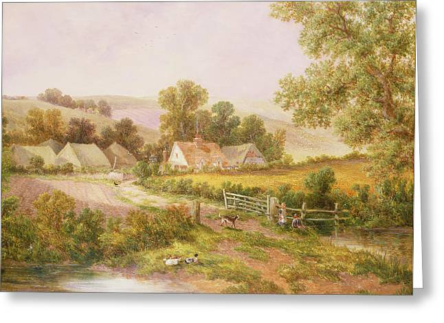 Farmyard Scene Greeting Card by C L Boes