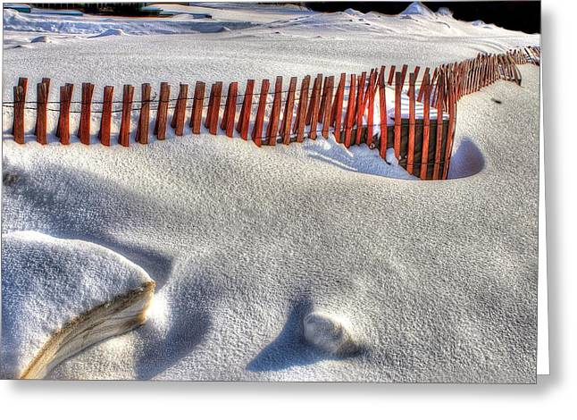 Fence Sculpture Greeting Card