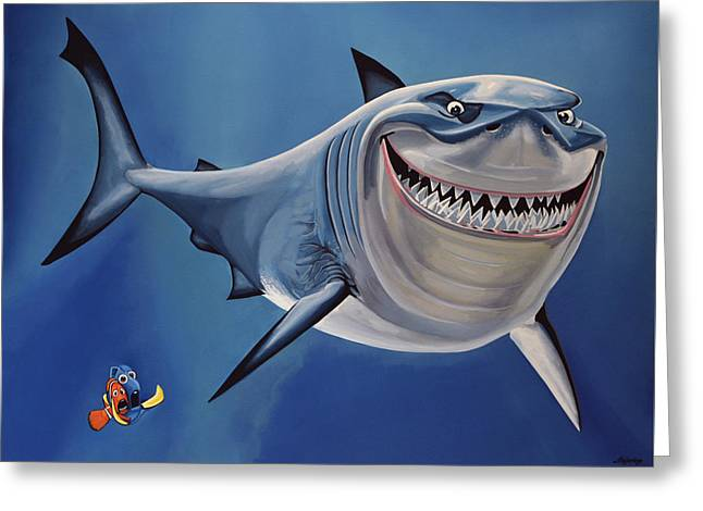 Finding Nemo Painting Greeting Card by Paul Meijering